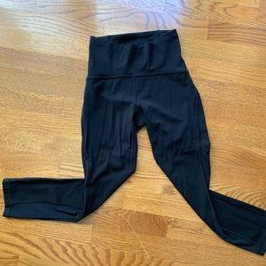 Black lululemon train your times leggings